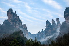 Hunan Zhangjiajie National Forest Park Jinbian Creek Shilihualang mountains Stock Image
