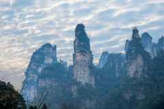 Hunan Zhangjiajie National Forest Park Jinbian Creek Shilihualang mountains Royalty Free Stock Photos