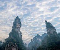 Hunan Zhangjiajie National Forest Park Jinbian Creek Shilihualang mountains Royalty Free Stock Images