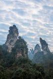 Hunan Zhangjiajie National Forest Park Jinbian Creek Shilihualang mountains Stock Photos