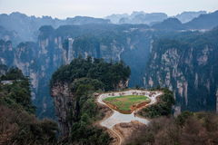 Hunan Zhangjiajie National Forest Park, the old field in the pastoral field Royalty Free Stock Photos