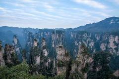 Hunan Zhangjiajie National Forest Park, the old house field `magic gathering` peaks Royalty Free Stock Image