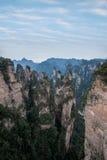 Hunan Zhangjiajie National Forest Park, the old house field `magic gathering` peaks Stock Photo