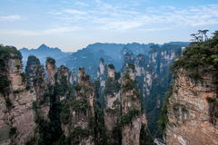 Hunan Zhangjiajie National Forest Park, the old house field `magic gathering` peaks Royalty Free Stock Images
