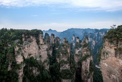 Hunan Zhangjiajie National Forest Park, the old house field `magic gathering` peaks Royalty Free Stock Photo