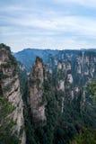 Hunan Zhangjiajie nationaler Forest Park, die alte Hausfeld ` Magie, die ` erfasst, ragt empor Stockfoto