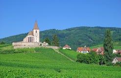 Hunawihr, Alsácia, France Imagens de Stock