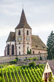 Hunawihr (Alsace) - Church and vineyard Royalty Free Stock Photos