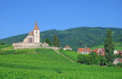 Hunawihr,Alsace,France. The village of hunawihr in alsace near ribeauville,alsace,france Stock Images