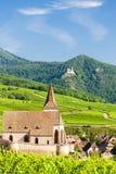 Hunawihr, Alsacia, Francia Imágenes de archivo libres de regalías