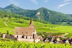 Hunawihr, l'Alsazia, Francia Immagini Stock