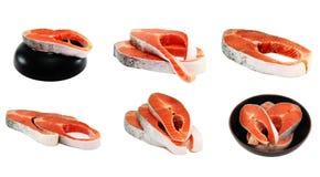 hunchback σολομός πιάτων Στοκ Εικόνες