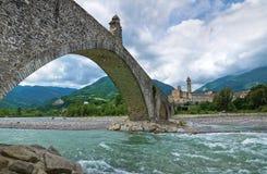 Hunchback Bridge. Bobbio. Emilia-Romagna. Italy. Stock Images