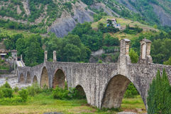 Hunchback Bridge. Bobbio. Emilia-Romagna. Italy. Royalty Free Stock Images