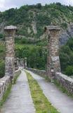 Hunchback Bridge. Bobbio. Emilia-Romagna. Italy. Stock Photos