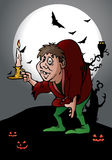 Hunchback hold candle Stock Photo