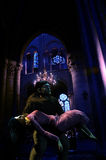 The hunchback of Notre-Dame. Interior of Notre-Dame, cathedral of Paris Royalty Free Stock Photography