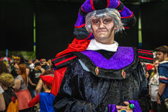 Hunchback of Notre-Dame cosplay. Sheffield, UK - June 03, 2017: Cosplayer dressed as `Claude Frollo` from The Hunchback of Notre-Dame` at Yorkshire Cosplay Con Royalty Free Stock Photos
