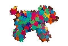 Hund av pappers- blommor Arkivbild