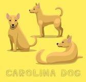 Hund Carolina Cartoon Vector Illustration vektor illustrationer