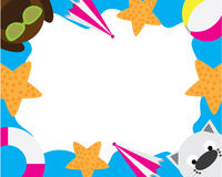 Hund Cat Sea Wallpaper Arkivfoto