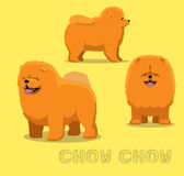 Hund Chow Chow Cartoon Vector Illustration Royaltyfri Foto