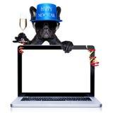 Hund des glücklichen neuen Jahres Lizenzfreies Stockfoto