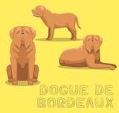Hund Dogue De Bordeaux Tecknad film vektorillustration Fotografering för Bildbyråer