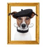 Hund för målarekonstnärram Royaltyfria Foton