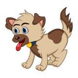 Hund - gullig valptecknad film Royaltyfri Bild
