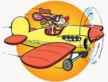 Hund ist Pilot lizenzfreie abbildung