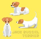 Hund Jack Russel Terrier Cartoon Vector Illustration Arkivbild