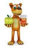Hund med Apple Arkivfoton