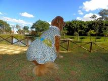 Hund med djur kläder Arkivfoto