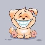 Hund med enormt leende stock illustrationer