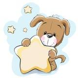Hund med stjärnan vektor illustrationer
