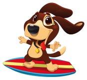 Hund mit Brandung. stock abbildung