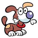 Hund mit dem Knochen Stockfotos