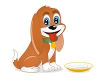 Hund mit dem Knochen Lizenzfreie Stockfotos