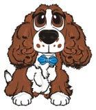Hund mit einem Bogen vektor abbildung