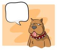 Hund mit Text Stockfoto