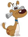 Hund mit Zeitung Lizenzfreies Stockfoto