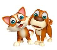 Hund och Cat Collection Fotografering för Bildbyråer