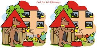 Hund- och för trumpet -10 skillnader Royaltyfria Bilder