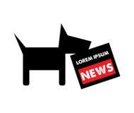 Hund och tidning Logo Concept vektor illustrationer