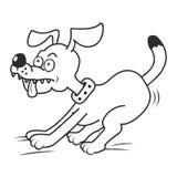 Hund och tunga som färgar Arkivbilder