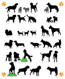 Hund silhouettiert Reihe lizenzfreie abbildung