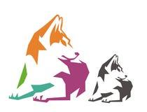 Hund sitzen Farbe Lizenzfreies Stockbild