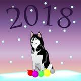 Hund - symbol 2018 royaltyfri illustrationer