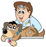 Hund am Tierarzt Stockfoto